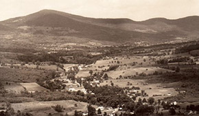 View of the lower Maplecrest valley from Round Hill (Credit: Collection of Patricia Morrow)